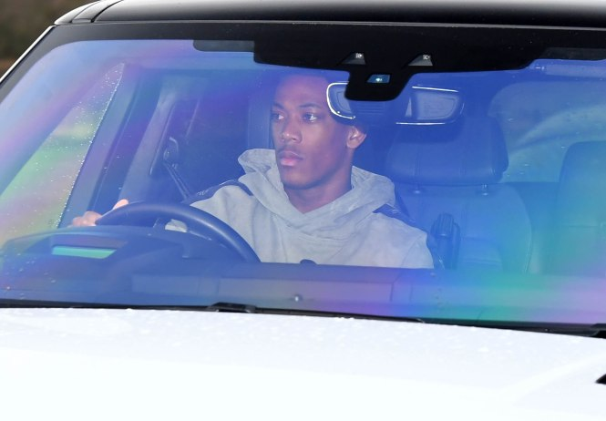 Anthony Martial drove to training hoping to keep his hot run of form alive