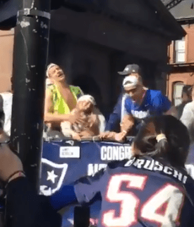 A fan filmed Rob Gronkowski playing with his girlfriend's boobs