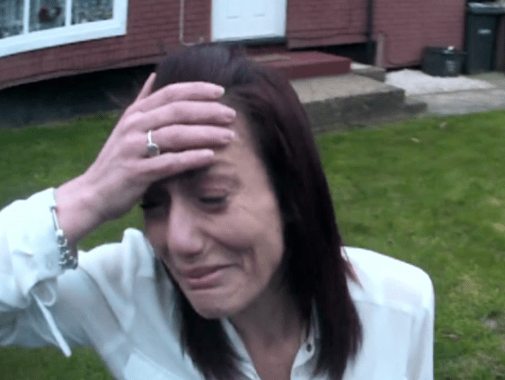 The mum could be seen trying to get to her son as he was being treated