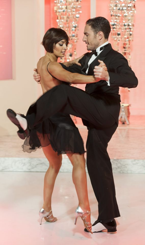 Flavia Cacace with Vincent Simone, who she left for Matt Di Angelo