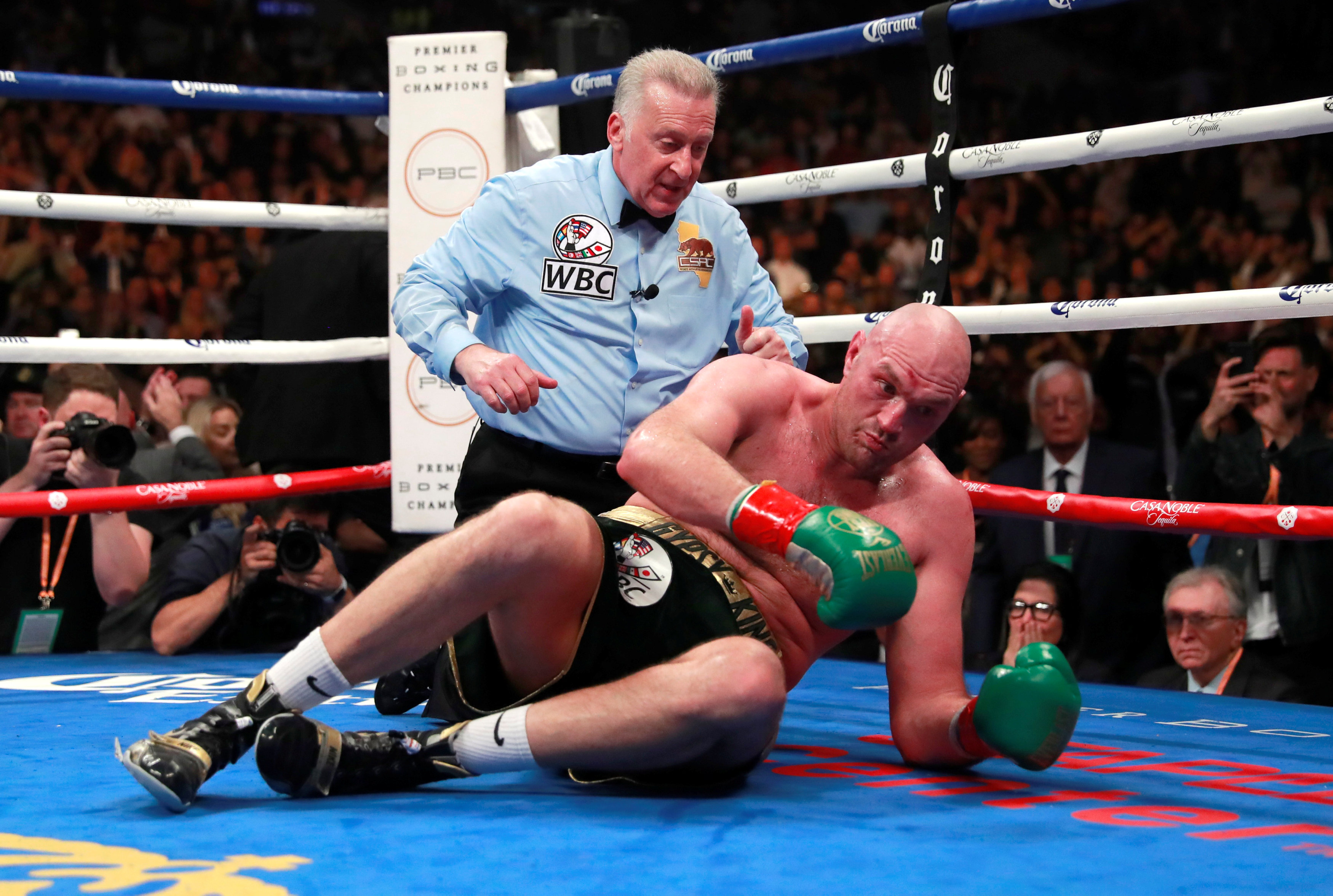 This was the moment when Tyson Fury miraculously got back to his feet in the 12th round after being flattened by Deontay Wilder