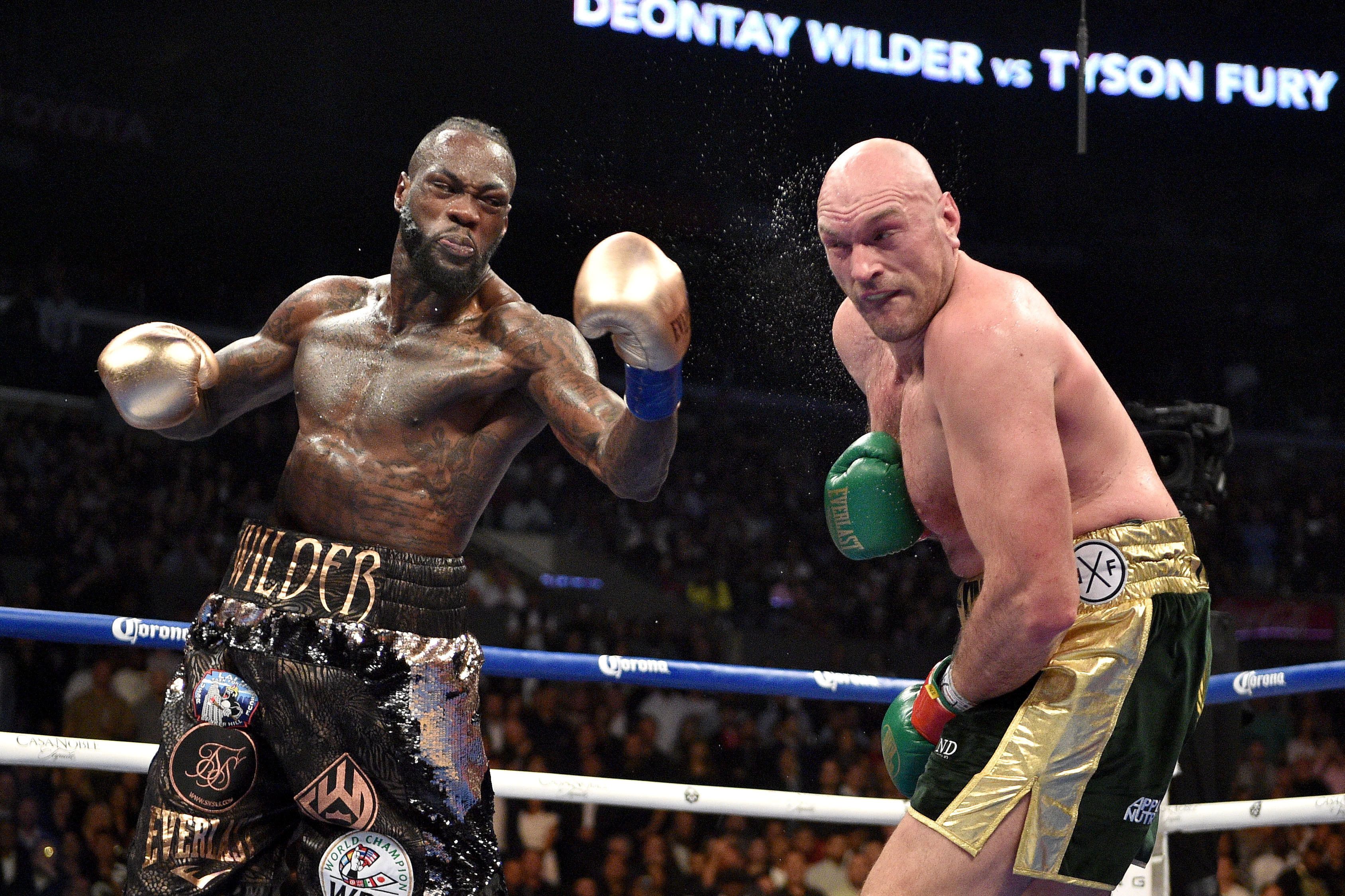Deontay Wilder mocked Tyson Fury for shelving the rematch in order to have an interim fight in the US