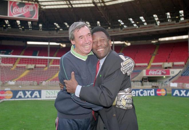 England hero Gordon Banks with Pele