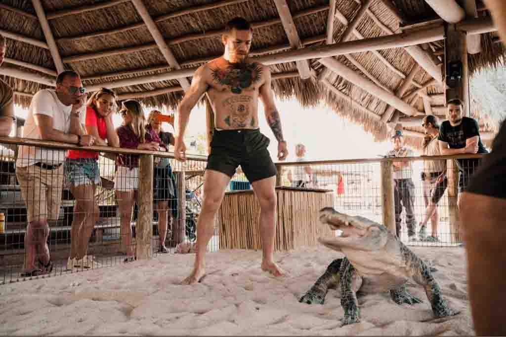 Conor McGregor wrestled a different type of beast on holiday