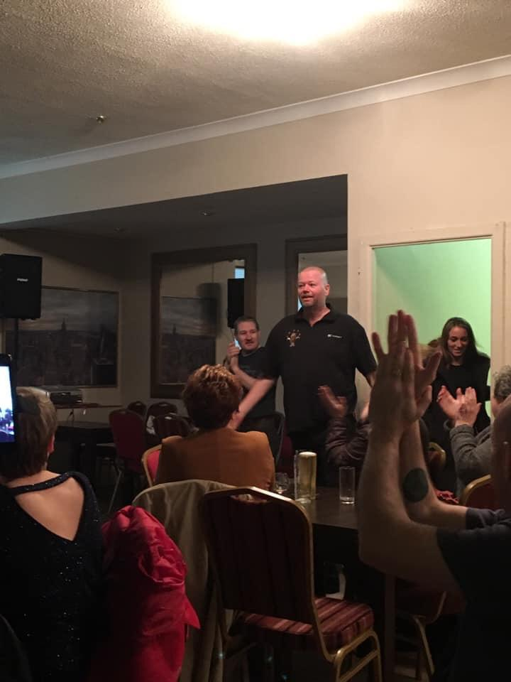 Married darts star Raymond van Barneveld took his younger lover to a charity match in a pub