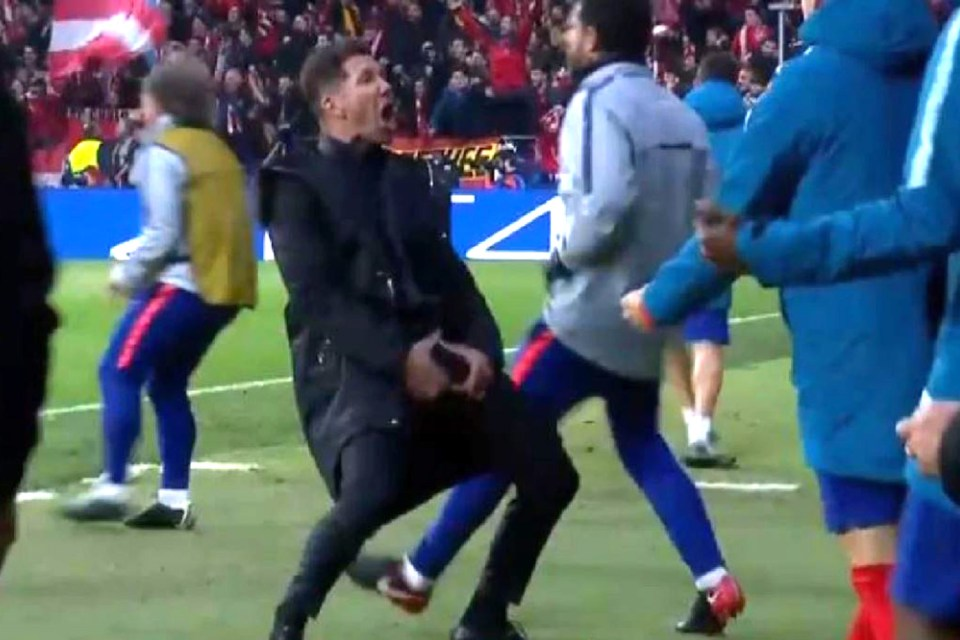 Simeone escaped punishment from Uefa for his bizarre move during the Champions League tie against Juventus