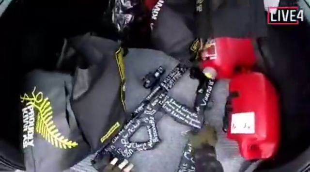 Footage showed the gunman appearing to prepare ahead of the sick massacre