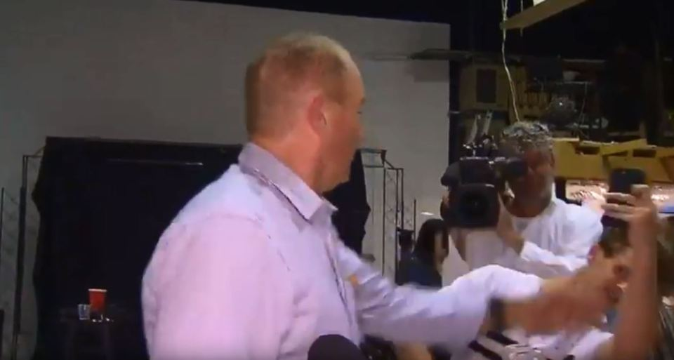 The politician had been speaking to media at the time