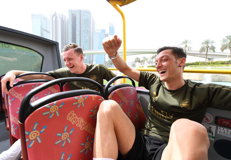 Mesut Ozil and Bernd Leno go sightseeing in Dubai