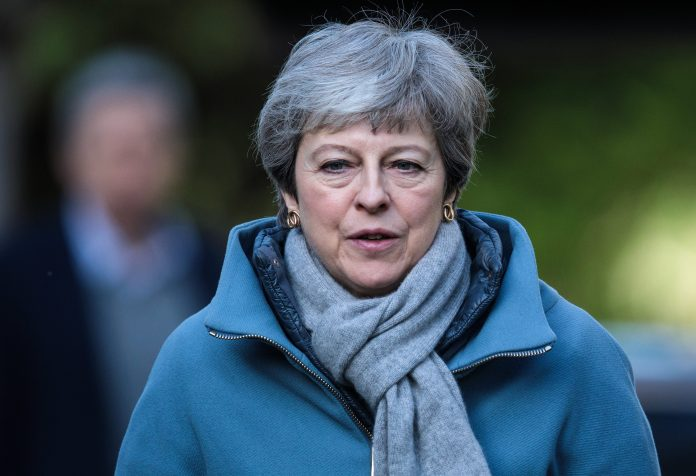 An agreement between Theresa May and senior Brexiteers to pass her EU deal was last night on a knife edge - after it was demanded she set a date to quit