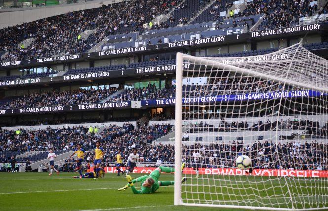 J'Neil Bennett fired the first goal in the new Tottenham Stadium