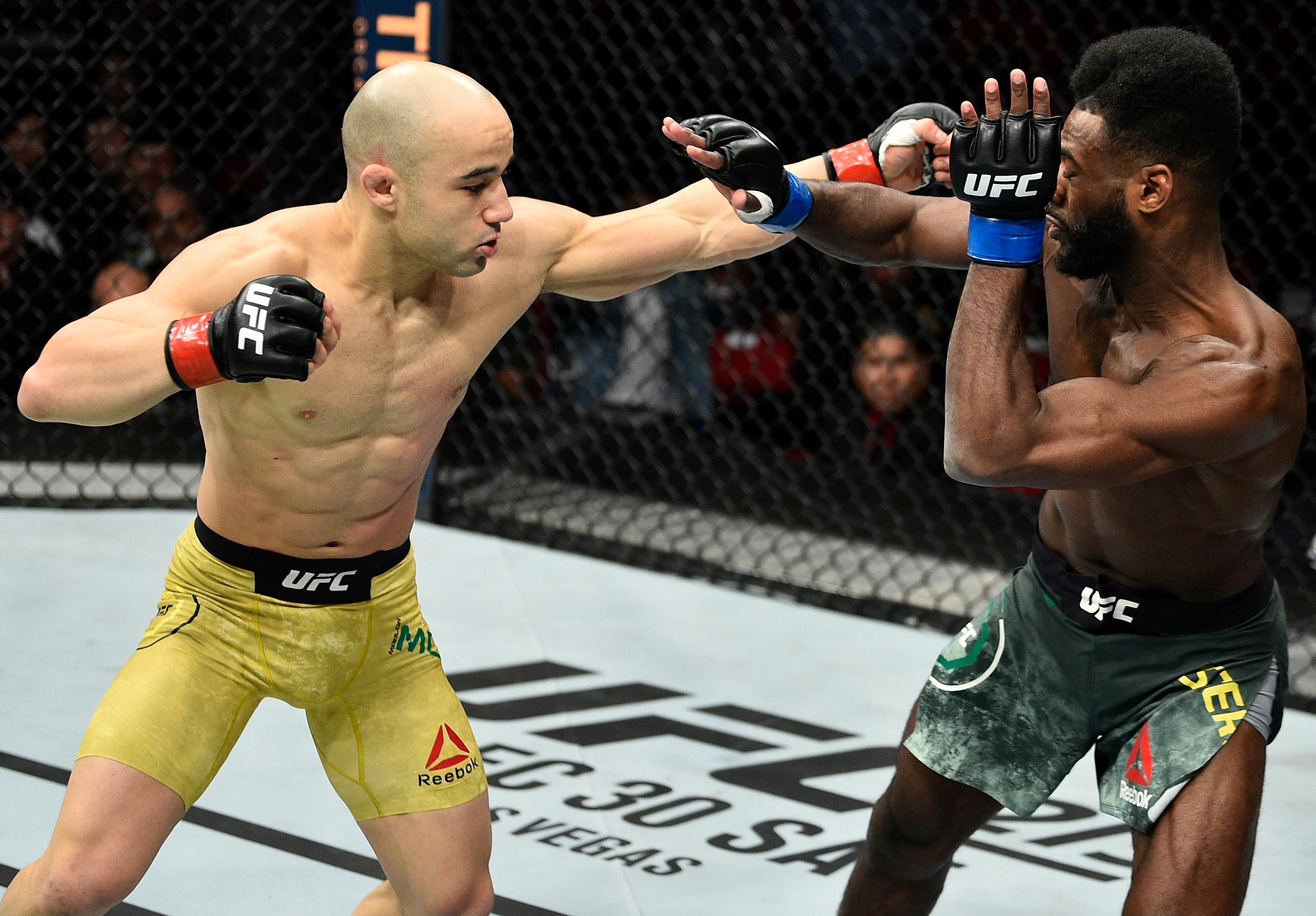 Marlon Moraes defeated Sterling in December 2017 by KO