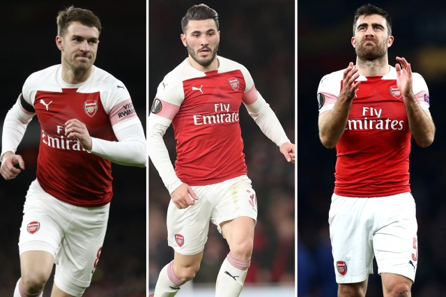 Aaron Ramsey, Sead Kolasinac and Sokratis are all in contention to play against Newcastle