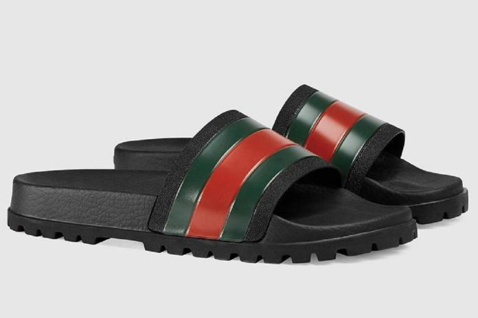 Gucci sliders are prices at £180