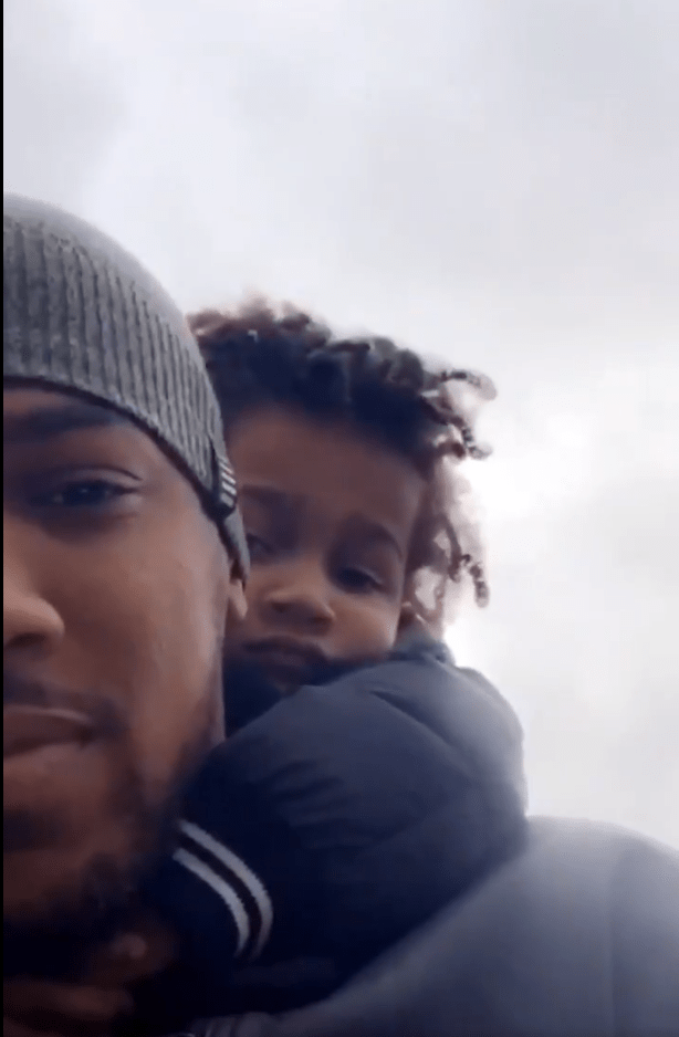 Anthony Joshua posted a video on Twitter feeding ducks with his three-year old son JJ