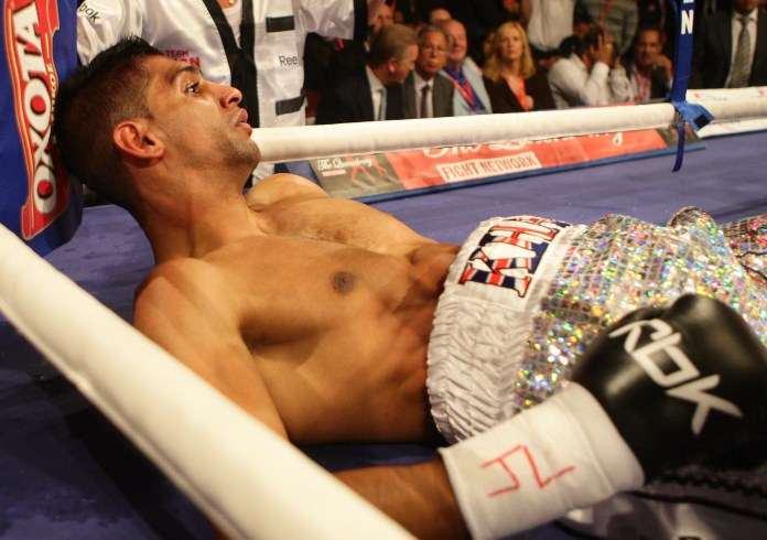 Amir Khan has been knocked out more than once in his career