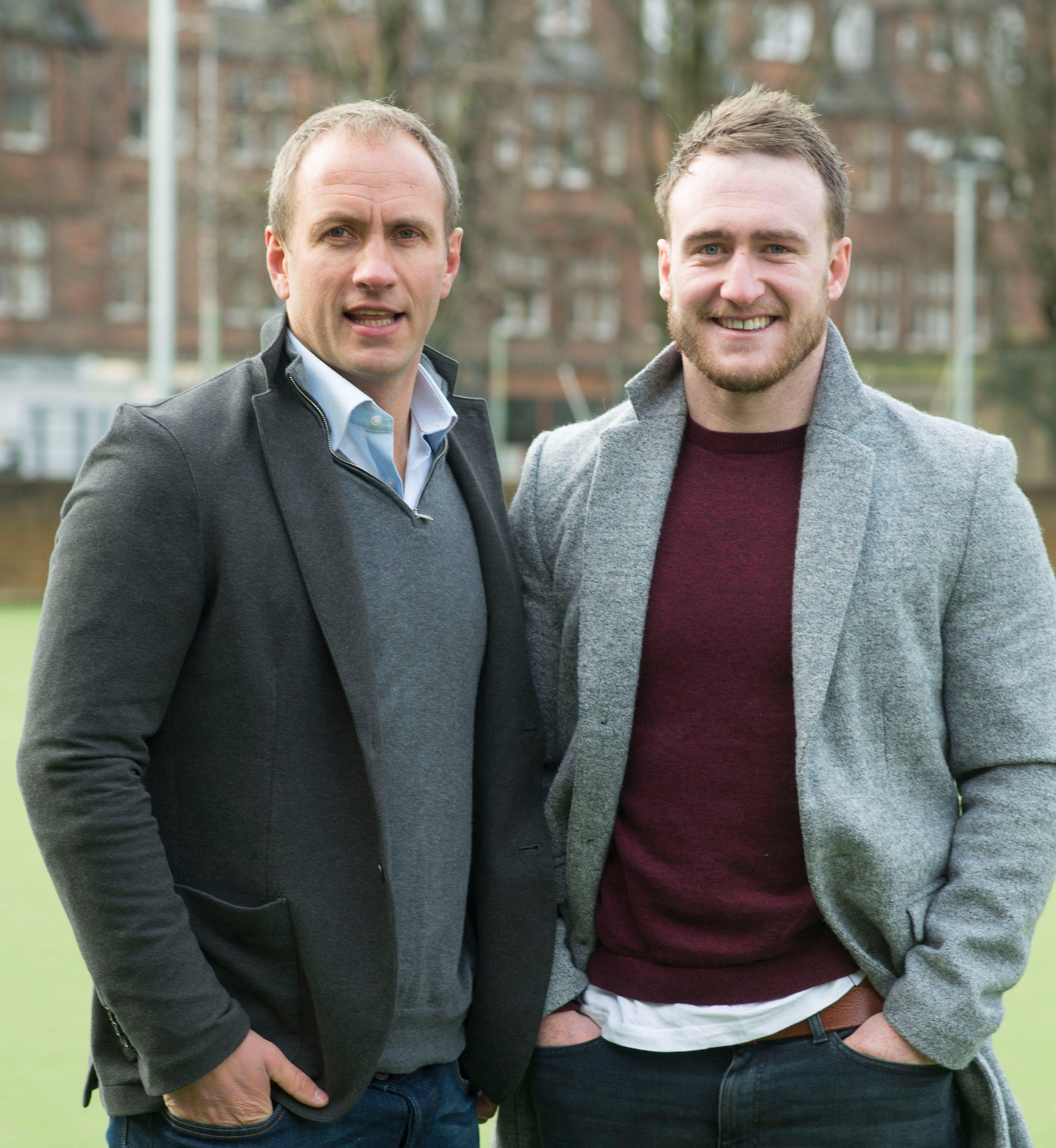 Gordon Hood, left with Scotland star Stuart Hogg, is still on the RFU accredited list - despite being on the sex-offenders register