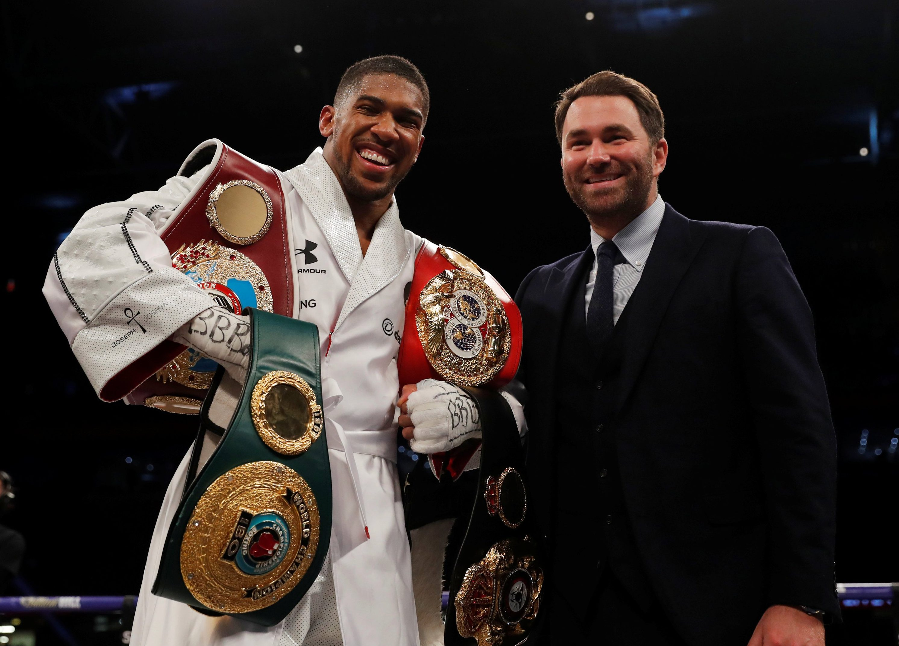 Eddie Hearn may have accidentally let slip who Anthony Joshua will be fighting on June 1 in New York