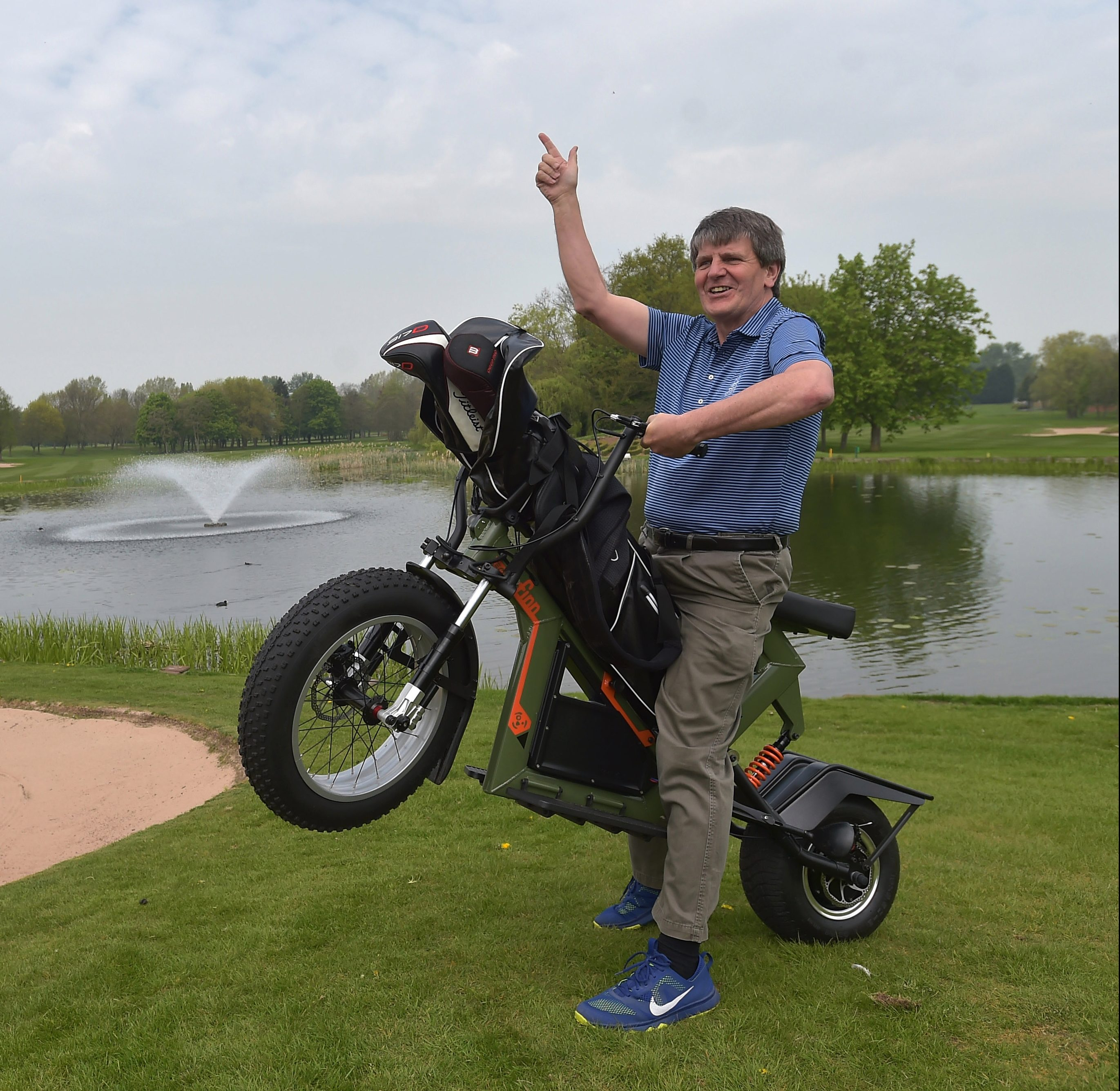 SunSport's David Facey had a wheelie good time on the course