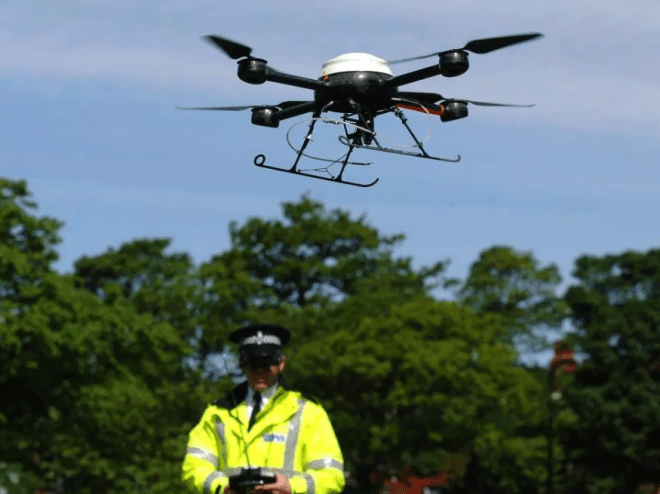 Police can use drones to aid them in fighting crime