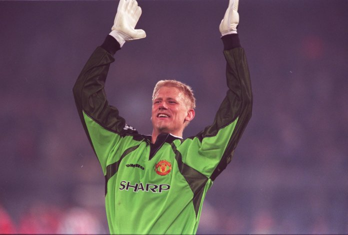 e7680e61865 ... Schmeichel is still adored at Old Trafford… despite turning out for  Manchester City a few years later