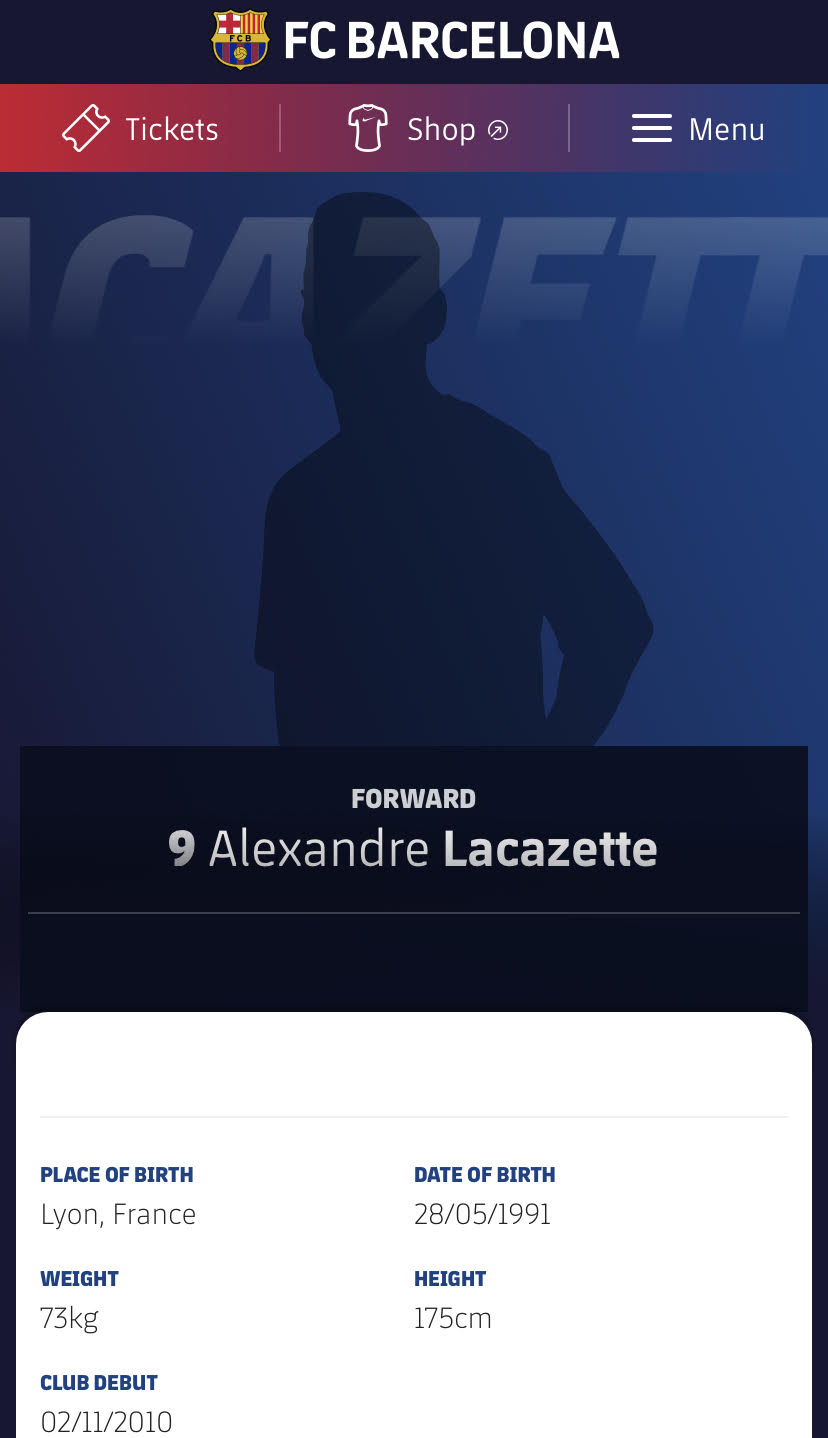 Alexandre Lacazette's name has bizarrely appeared on Barcelona's website - but it appears to be a glitch