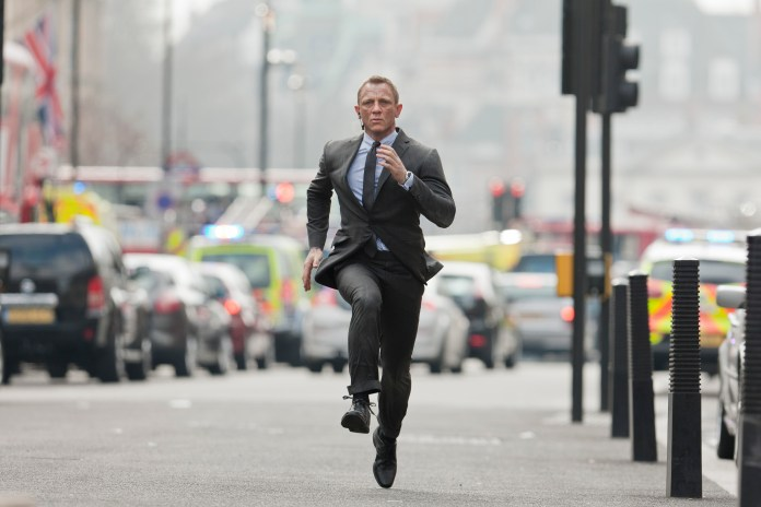 Daniel Craig, pictured in Skyfall, has injured himself countless times since taking the role of James Bond
