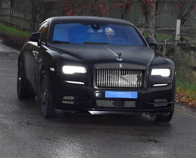 When Pogba isn't driving his Rolls-Royce, he's often chauffeur-driven in it
