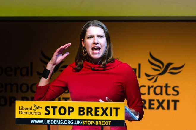 Jo Swinson has said a vote for the Lib Dems is a vote to stop Brexit
