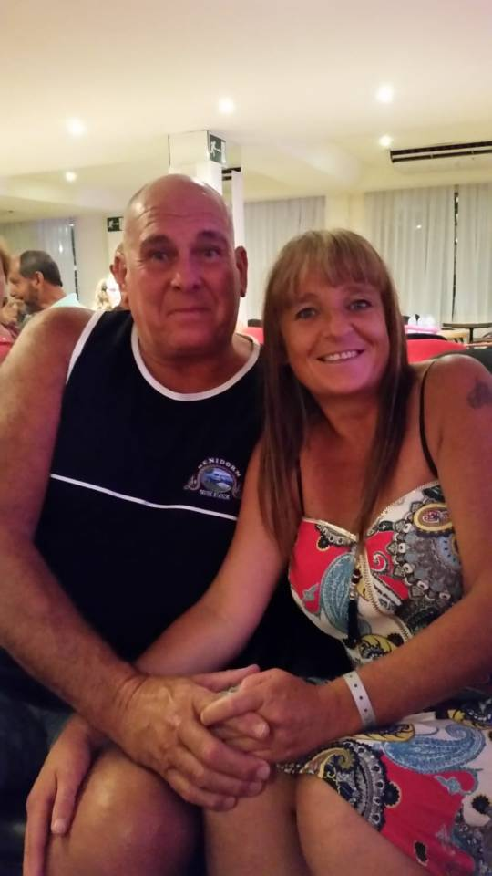 Steve Dymond, 63, with his fiancée Jane Callaghan