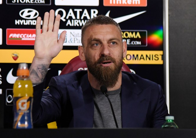 De Rossi called time on his career at Roma and is ready for a new challenge