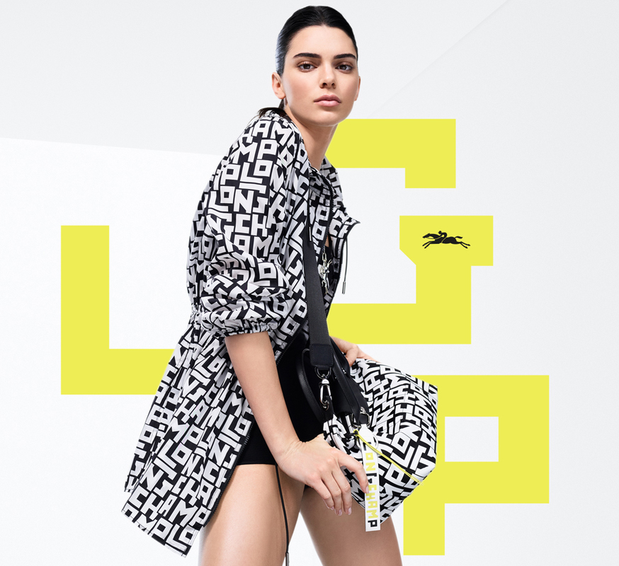Supermodel Kendall Jenner has teamed up with Longchamp to launch its debut monogrammed collection