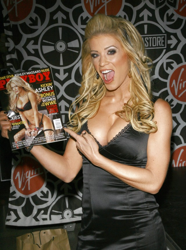 Ashley Massaro also appeared on the April 2007 cover of Playboy Magazine