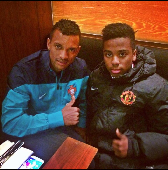 The forward had been at United since he was six - and former United star Nani is his godfather