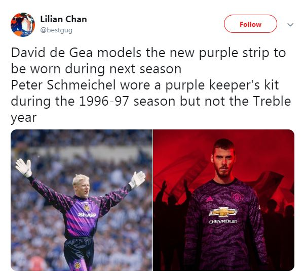 72a70552d87 Man Utd gaffe as new keeper kit inspired by Schmeichel in 1999 is ...