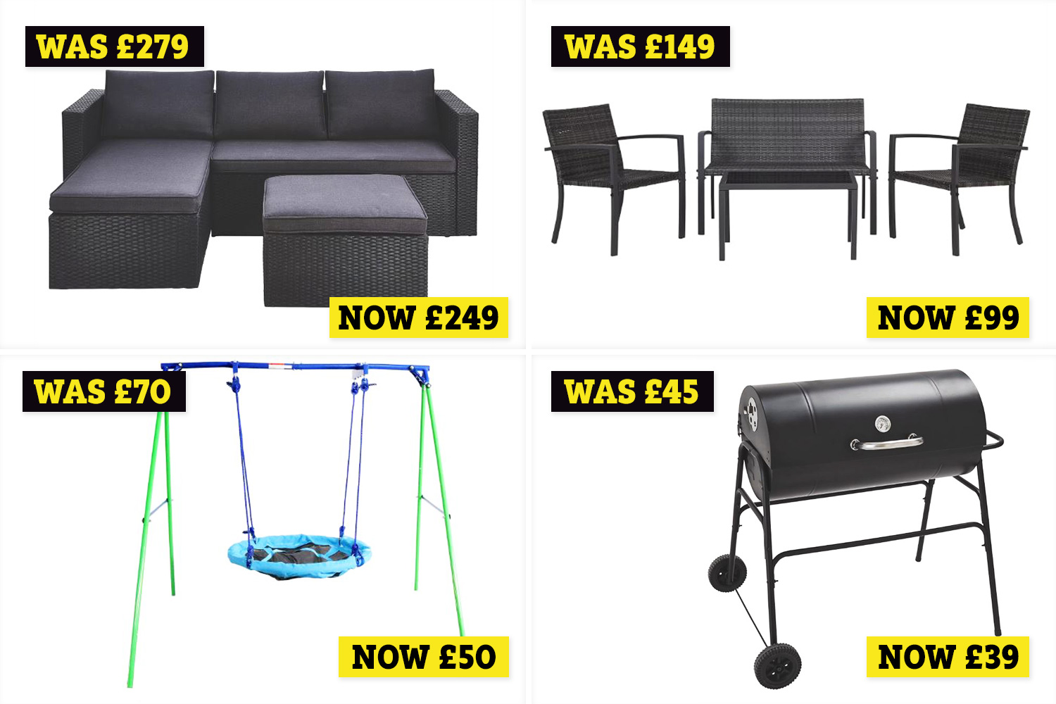 Asda Has A Garden Furniture Sale That Includes Sofa Sets Swings And Bbqs