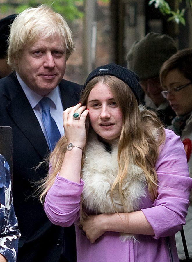 Boris with his eldest daughter Lara