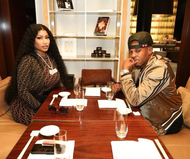 Nicki said she was in a 'happy place' in her relationship with Petty