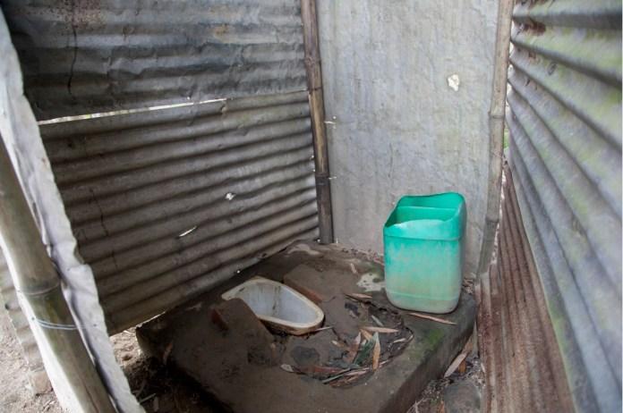 Open toilets provide poor sanitation