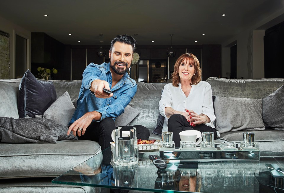 Rylan Clark-Neal is joined on the couch by his mum Linda