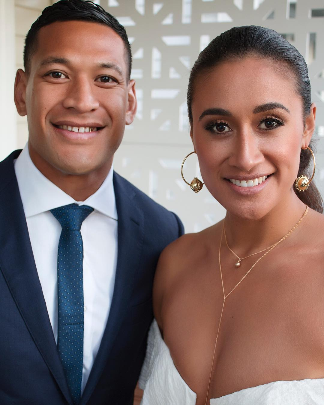 Folau with his wife Maria gave a sermon at The Truth of Jesus Christ Church in Sydney