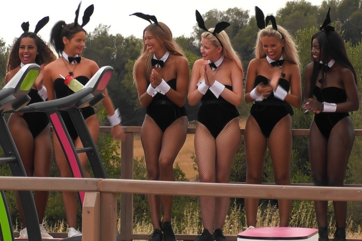 ad2bd98f009 Love Island fans slam 'sexist' gym bunny challenge as girls dress up ...