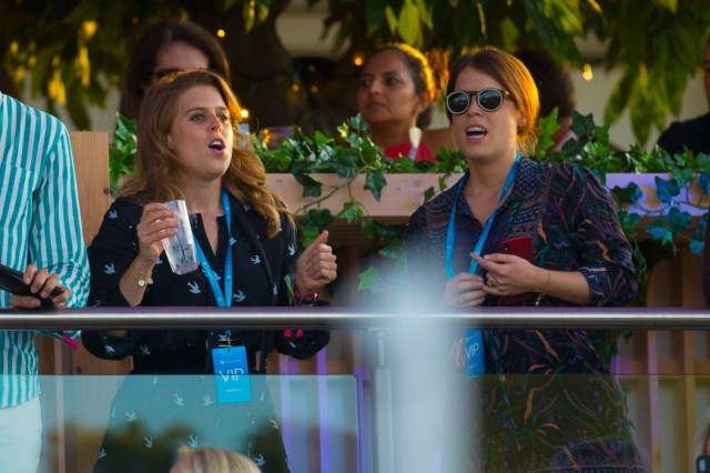 But I was interrupted from my peaceful space by princesses Eugenie and Beatrice glaring and pointing at me, with a security guard by their side who accused me of trying to take photos of them
