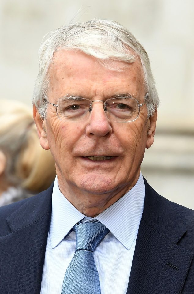 Sir John Major announced he was backing Jeremy Hunt in the race for PM