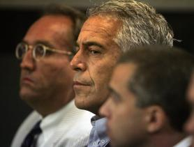 Epstein in court in 2008 when he was sentenced to 18 months in jail