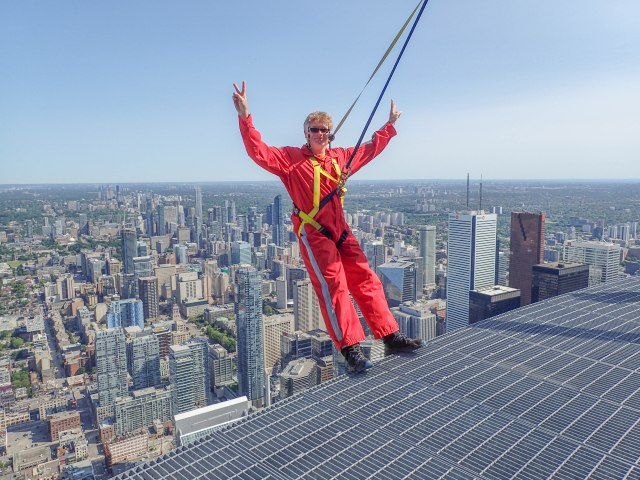 The world's highest hands-free walk on the CN Tower is not for the faint-hearted