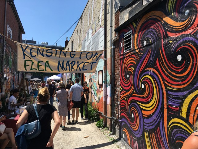 Clothes, trinkets and coffee are all on offer at Kensington Market