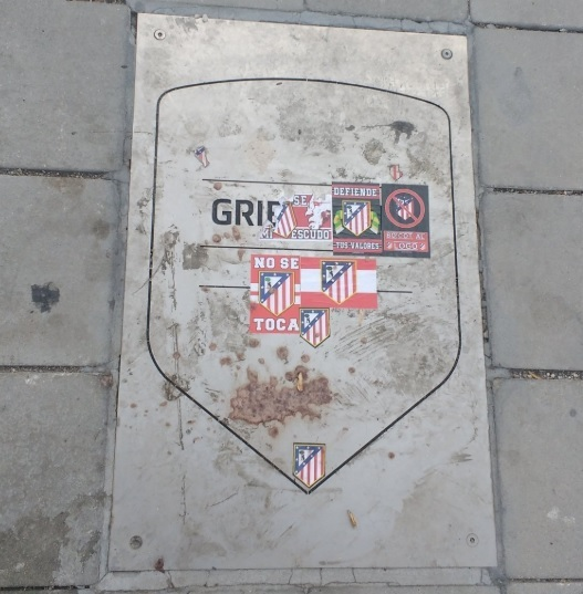 Atletico Madrid supporters defaced the plaque to Antoine Griezmann at their Wanda Metropolitano stadium