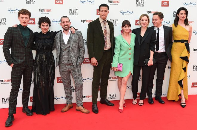 Helen McCrory was joined by her co-stars at the season 5 premiere in Birmingham