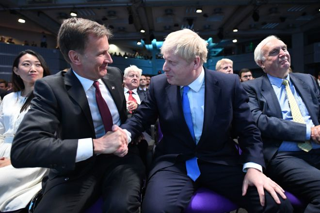 Jeremy Hunt congratulates Boris Johnson on becoming new Tory leader